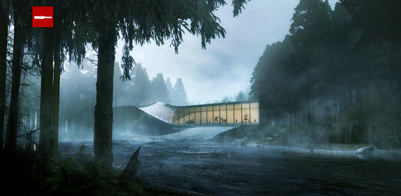 Cкрученный музей Kistefos в Норвегии