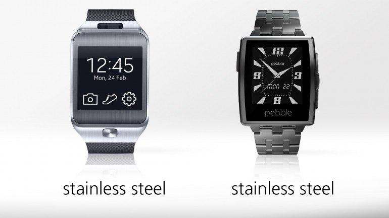 Часы Samsung Gear 2 против Pebble Steel