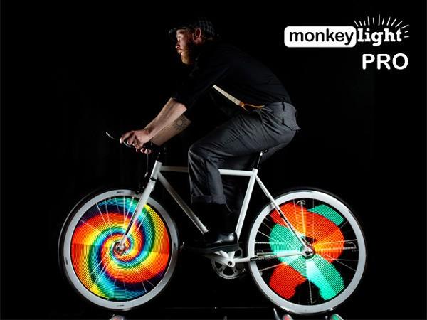 Monkey Light Pro - превращает велосипедные колеса в яркие дисплеи