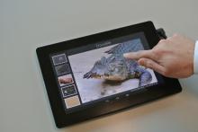 Fujitsu Labs - прототип тактильного сенсорного планшета