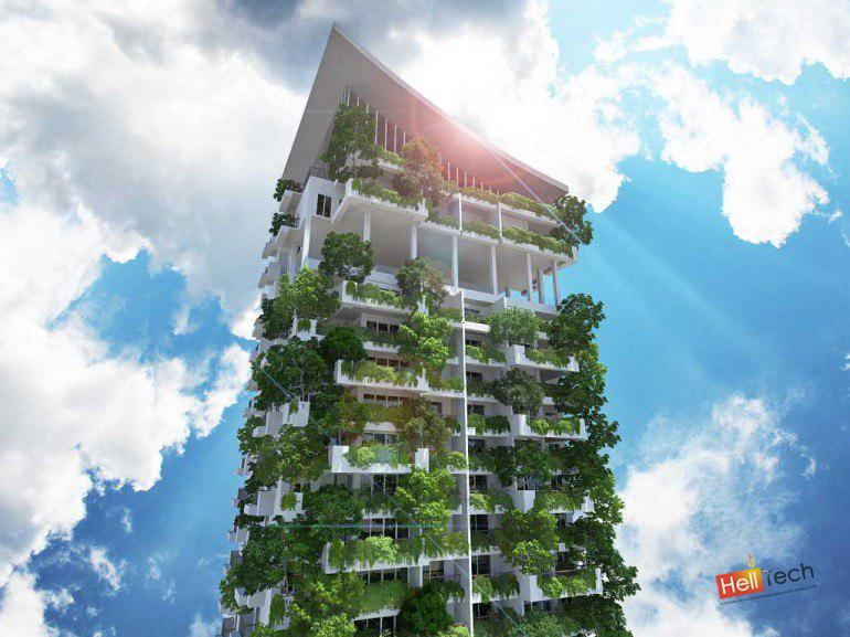 Самый высокий вертикальный сад-дом в мире!