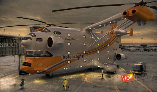 Первый в мире летающий отель - Hotelicopter