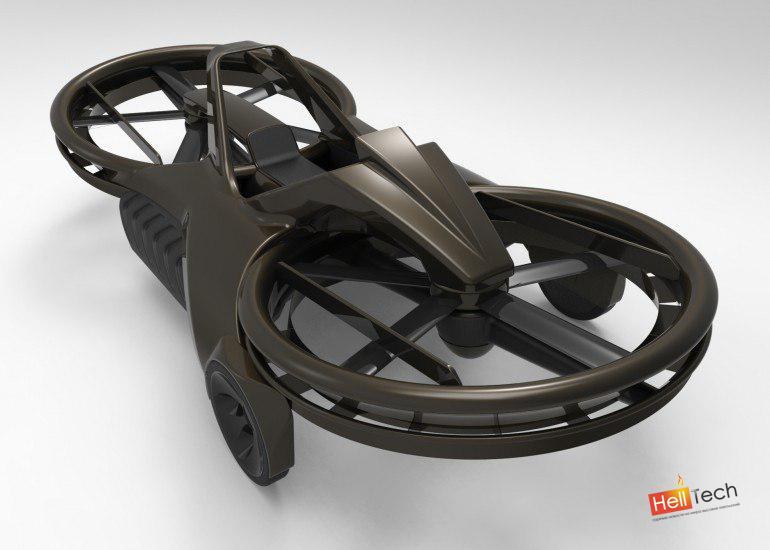 Парящий мотоцикл Aero-X