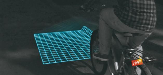Lumigrids - светодиодный проектор, который обезопасит велосипедистов от выбоин