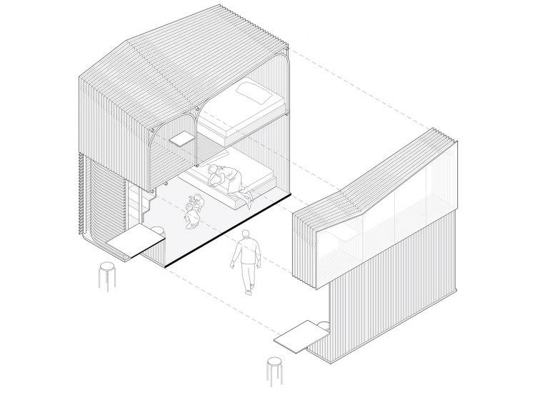 Бамбук Микро дом - приют для бездомных Гонконга